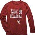Oklahoma Sooners Cardinal Double Reverse Long Sleeve Slub Knit T-Shirt