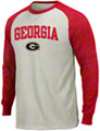 Georgia Bulldogs Natural/Red Campus Classic Raglan Thermal