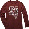 Texas A&M Aggies Maroon Double Reverse Long Sleeve Slub Knit T-Shirt