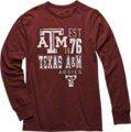 Texas A&M Aggies Maroon Double Reverse Long Sleeve Slub Knit T-Shirt