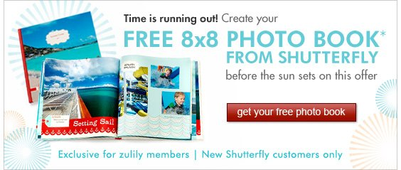 Time is running out! Create your free photo book
