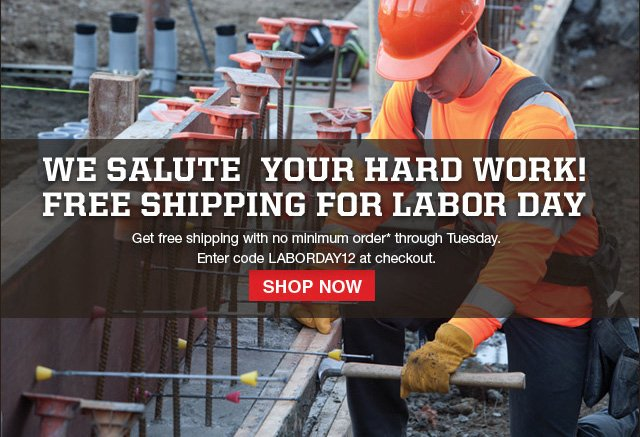 Free Shipping for Labor Day