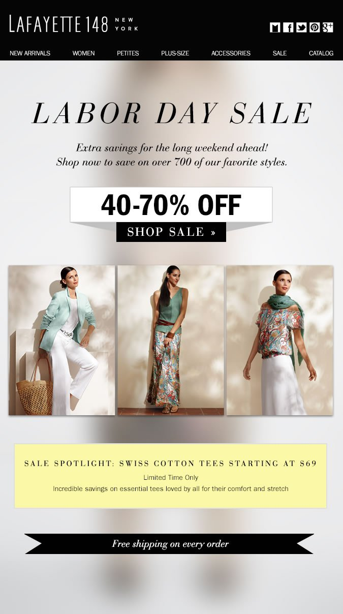 Labor Day Sale: NEW Markdowns save 40-70%