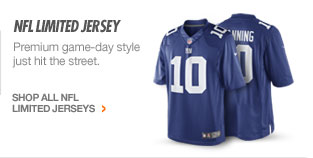 NFL LIMITED JERSEY | Premium game-day style just hit the street. | SHOP ALL NFL LIMITED JERSEYS >