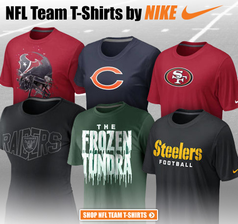 Shop NFL Team T-Shirts from Nike