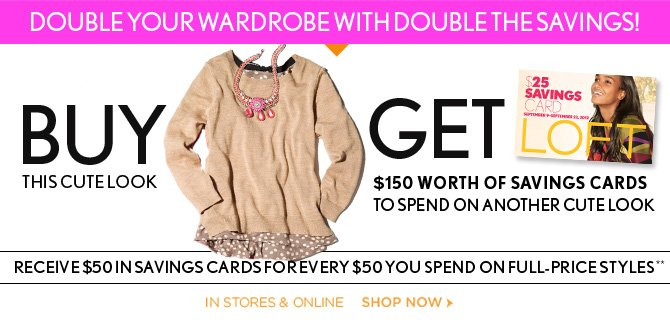 DOUBLE YOUR WARDROBE WITH DOUBLE THE 