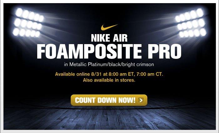 Nike Foamposite Pro - Crimson