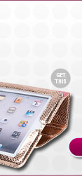 Rebecca Minkoff Metallic Snake Magnetic Wrap iPad Case