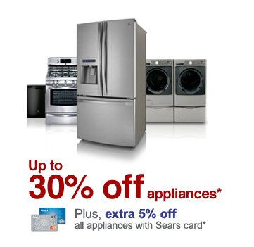 Up to 30% off appliances*
