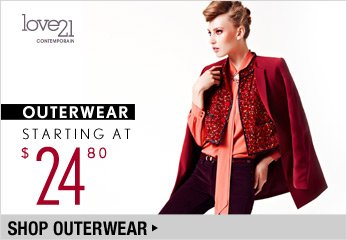 Love21 Outerwear Starting at $24.80 - Shop Now