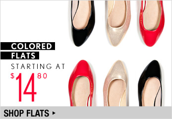 Colored Flats Starting at $14.80 - Shop Now