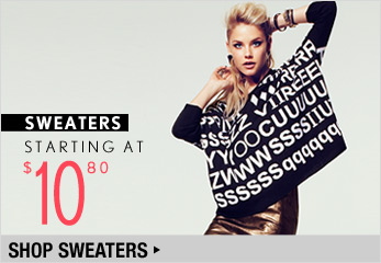 Sweaters Starting at $10.80 - Shop Now