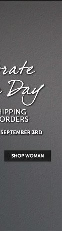 Free Shipping on all orders now through Labor Day