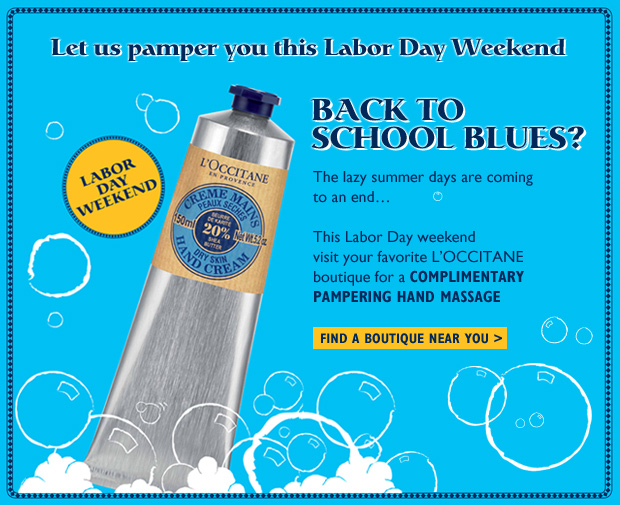 Let us pamper you this Labor Day Weekend