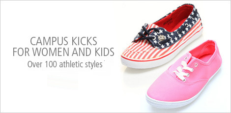 Campus Kicks for women and kids