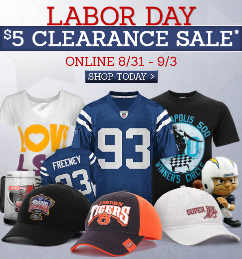 Labor Day $5 Clearance Sale.