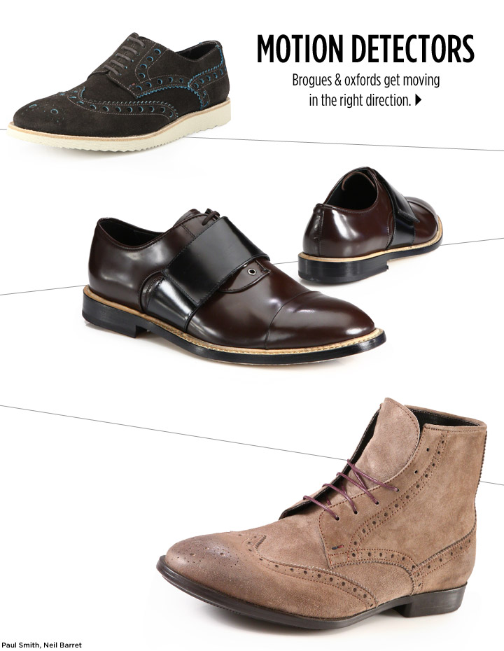 Brogues & oxfords get moving in the right direction