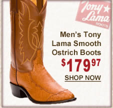 Men's Tony Lama Smooth Ostrich Skin Boots