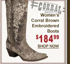 Women's Corral Brown Embroidered Boots