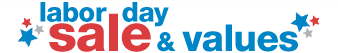 labor day sale & values