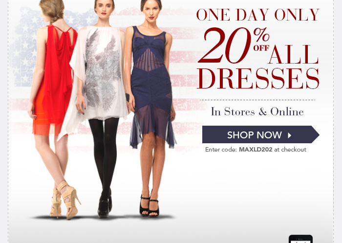 Labor Day Sale 20% off All Dresses