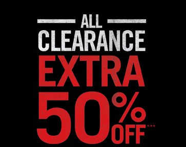 All Clerance Extra 50% Off