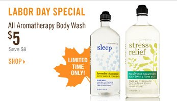 Aromatherapy Body Wash - $5
