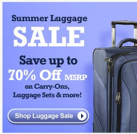 Summer Luggage Sale