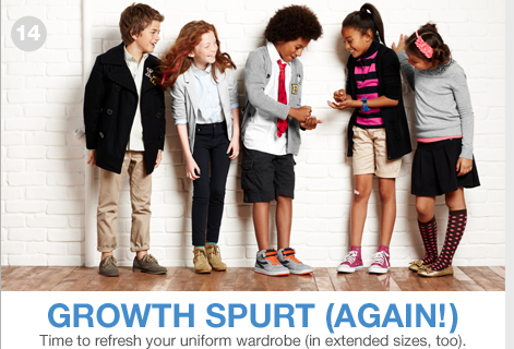 GROWTH SPURT(AGAIN!). TIME TO REFRESH YOUR UNIFORM WARDROBE