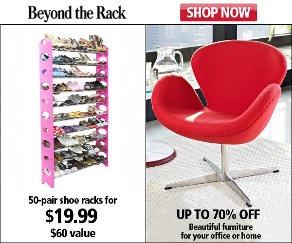 50-Pair Shoe Rack and Rayban