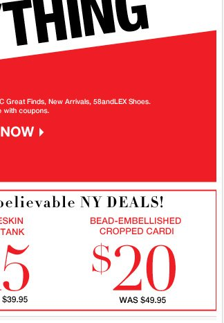 Shop these Unbelievable NY Deals