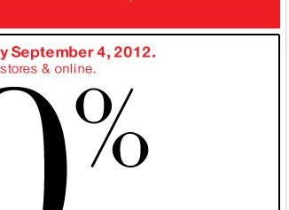 Last Day! 40% off Everything in participating stores!Shop Now