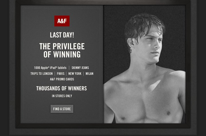 A&F lAST DAY!!