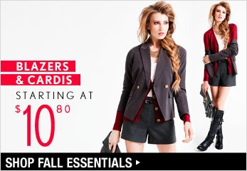 Blazers & Cardis Starting at $10.80 - Shop Now