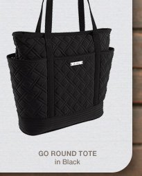 Go Round Tote in Black