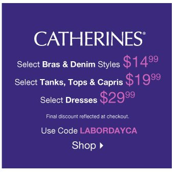 Shop the Catherines Sale!