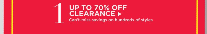 1. UP TO 70% OFF CLEARANCE