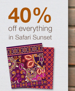 40% off everything in Safari Sunset