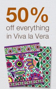 50% off everything in Viva la Vera