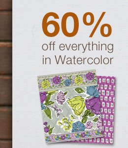 60% off everything in Watercolor