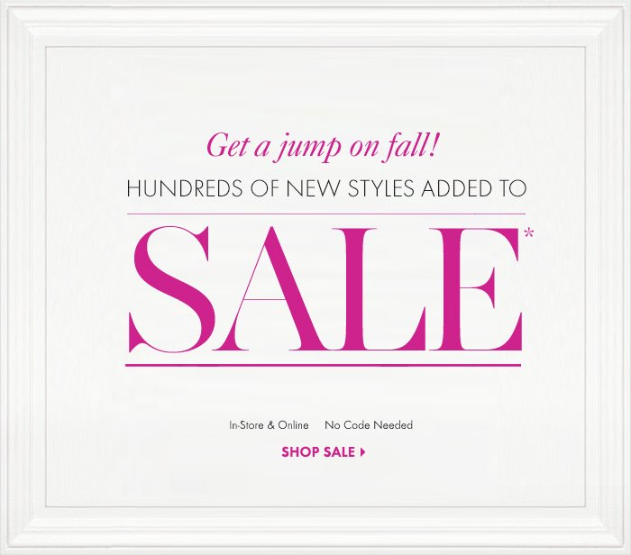 Get a jump on fall!