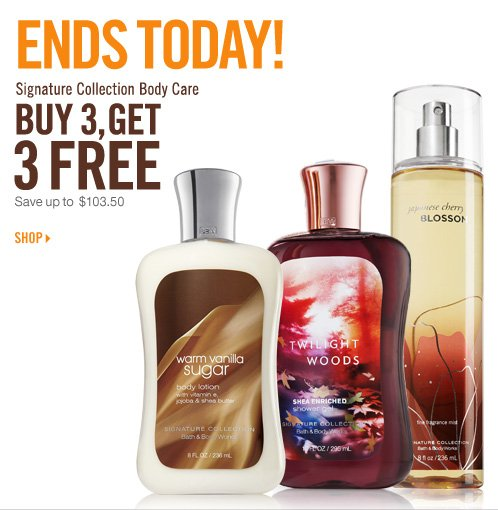 Signature Collection Body Care - Buy 3, Get 3 Free