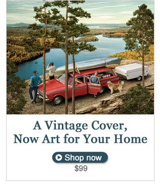 A Vintage Cover, Now Art for Your Home. Shop now, $99.