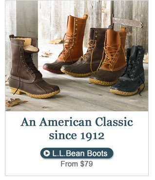 An American Classic since 1912 L.L.Bean Boots, from $79