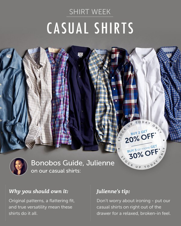 Shirt Week: Casual Shirts