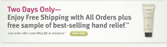 two days only free shipping  with all orders plus free sample of hand relief shop now