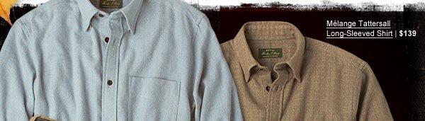 Melange Tattersall Long-Sleeved Shirt