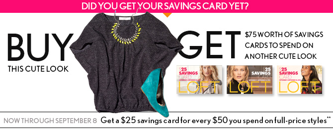 DID YOU GET YOUR SAVIGNS CARD YET?