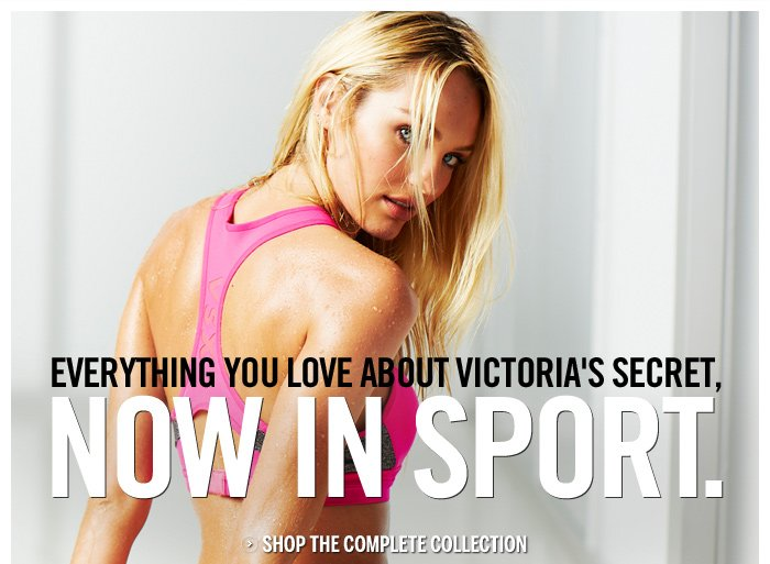 EVERYTHING YOU LOVE ABOUT VICTORIA'S SECRET, NOW IN SPORT