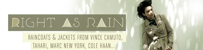 Raincoats & Jackets from Vince Camuto, Tahari Marc New York, Cole Haan